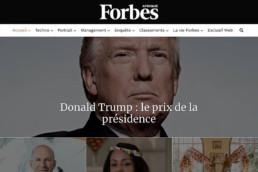 création du site Web Forbes Afrique