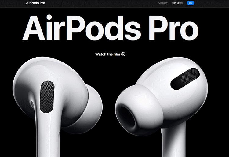 AirPods Pro mise en avant du produit